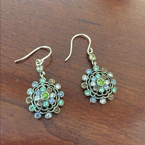 Multicolor stone dangling earrings